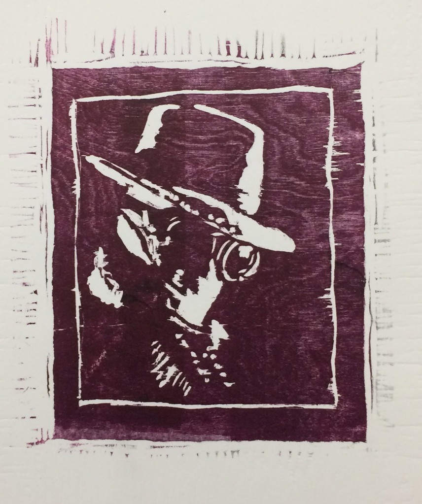 Relief Print from Woodcut; Ink on Paper - 11x15