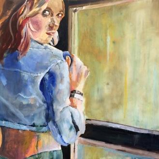Blue Jacket - 30x40 Oil on Canvas