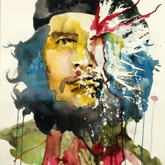 Che Remastered - 18x24 Watercolor on Paper