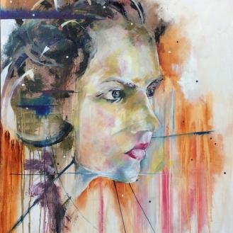 SOLD - the Modern Medusa - 36x48, Oil on Canvas