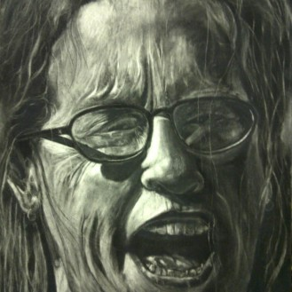 Portrait - 22x30, Charcoal Drawing on Hot Press Board