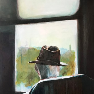 Brown Hat - 30x48 Oil on Canvas