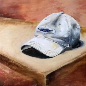 My Hat, 18x24, Oil on Wood Panel