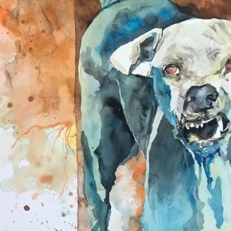 Junk Yard- 15x24 Watercolor on Paper