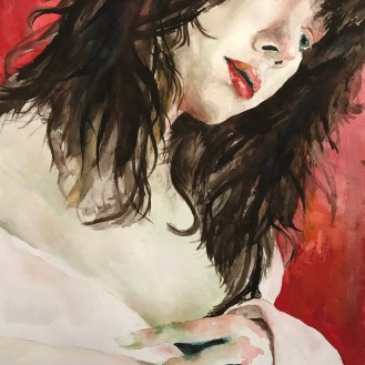 Kobayashi's Daniela - 16x20 Watercolor on Paper