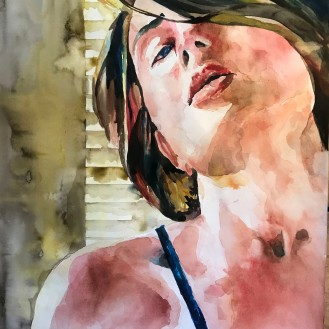 Seduction - 18x24 Watercolor on Paper