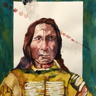 Red Cloud - 16x20 Watercolor on Paper
