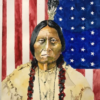 Sitting Bull - 16x20 Watercolor on Paper